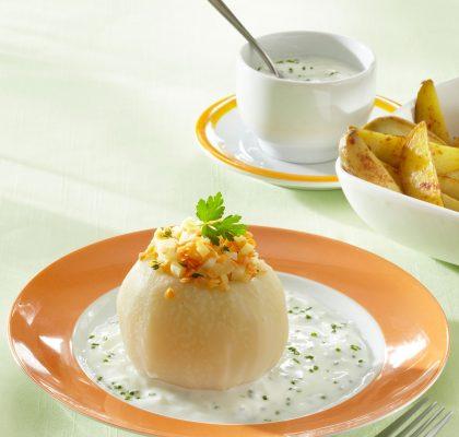 Lentil Stuffed Kohlrabi