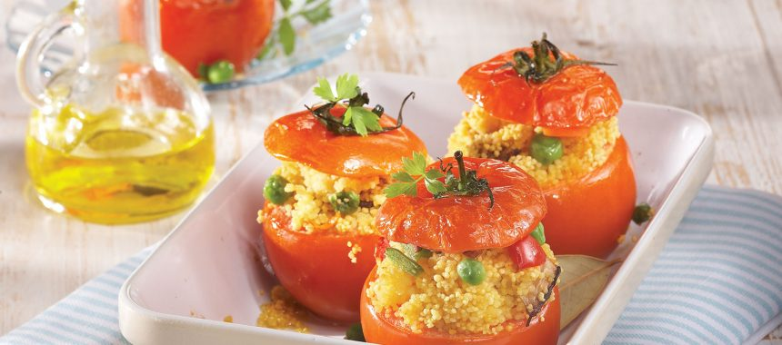 Stuffed Tomatoes Filled with Couscous