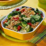 Baked Broccoli with Almond Crust