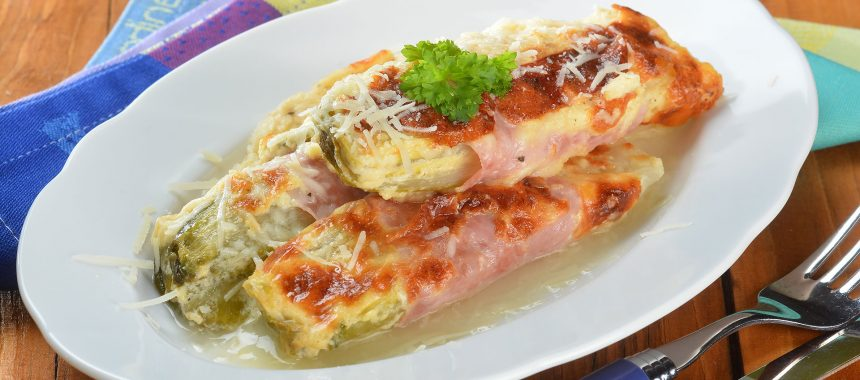 Au Gratin Chicory with Soy Cream