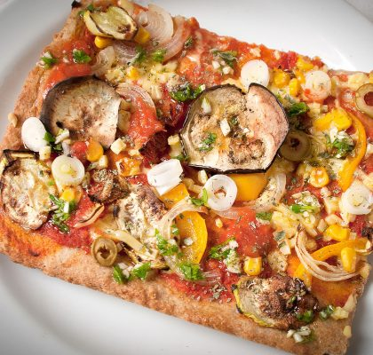Vegan Pizza With Whole Wheat Dough