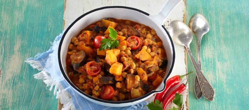 Chickpea sweet potato pot