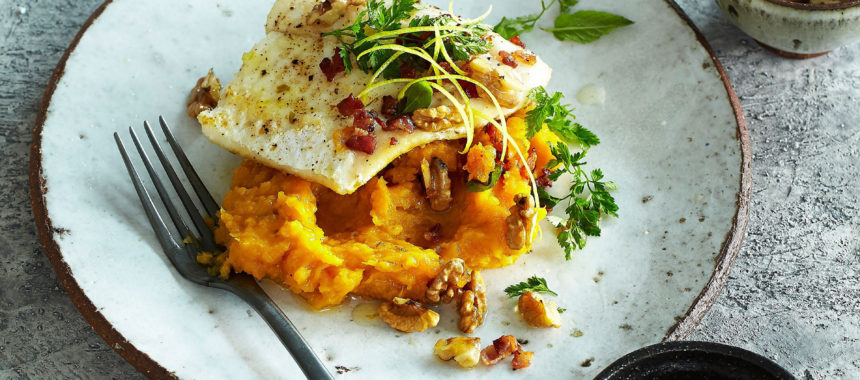 Sweet potato mash with pike-perch (zander)